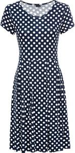 Sukienka bonprix BODYFLIRT midi z okrągłym dekoltem z krótkim rękawem