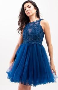 Sukienka Butik Ecru bez rękawów rozkloszowana
