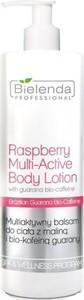 Bielenda Professional, Raspberry Multi-Active Body Lotion, multiaktywny balsam do ciała z Maliną i Bio-kofeiną Guarany, 500 ml