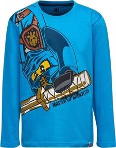Niebieska koszulka dziecięca LEGO Wear z bawełny