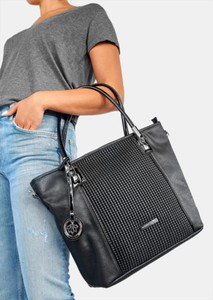 Czarna torebka DeeZee w stylu glamour