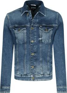 Niebieska kurtka Tommy Jeans krótka z jeansu