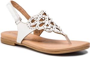 Sandały Tamaris ze skóry w stylu casual
