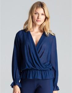 Niebieska bluzka Figl