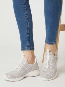 Buty sportowe Skechers w sportowym stylu z tkaniny z płaską podeszwą