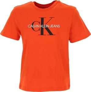 Pomarańczowa koszulka dziecięca Calvin Klein