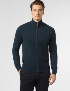 Granatowy sweter Andrew James z kaszmiru