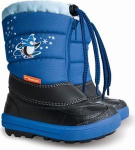Niebieskie buty dziecięce zimowe Demar dla chłopców sznurowane