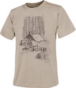 T-shirt HELIKON-TEX z krótkim rękawem z bawełny z nadrukiem
