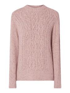 Różowy sweter Gant z wełny