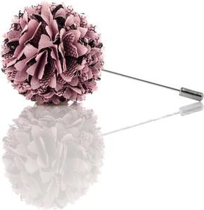 Em Men`s Accessories Szpilka do butonierki różowy kwiat EM 32