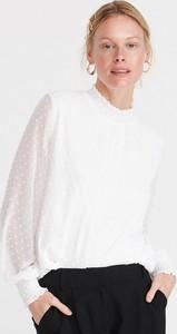 Bluzka Reserved z okrągłym dekoltem z tkaniny z długim rękawem