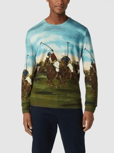 Zielony sweter POLO RALPH LAUREN w młodzieżowym stylu