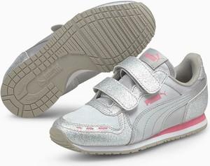 Buty sportowe dziecięce Puma dla dziewczynek ze skóry