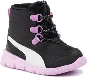 Granatowe buty dziecięce zimowe Puma sznurowane