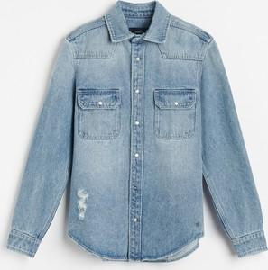 Koszula Reserved z jeansu w stylu casual