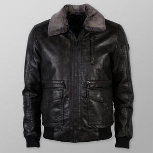 Czarna kurtka Willsoor ze skóry krótka