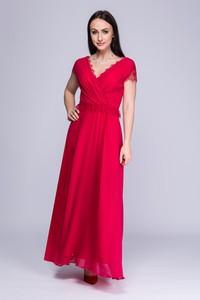 Sukienka Semper z dekoltem w kształcie litery v maxi kopertowa