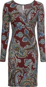 Sukienka bonprix BODYFLIRT boutique kopertowa w stylu casual midi