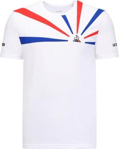 T-shirt Le Coq Sportif z krótkim rękawem w młodzieżowym stylu z dzianiny