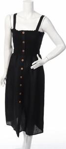 Czarna sukienka Seafolly midi na ramiączkach
