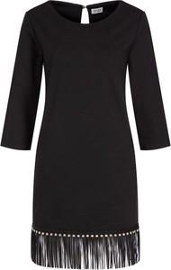 Czarna sukienka Liu-Jo mini z okrągłym dekoltem w stylu casual