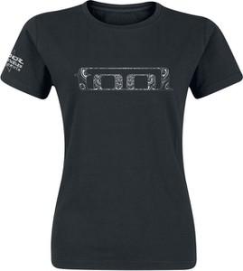 Czarny t-shirt Emp z bawełny w młodzieżowym stylu z krótkim rękawem