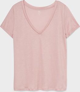 T-shirt YESSICA w stylu casual z okrągłym dekoltem