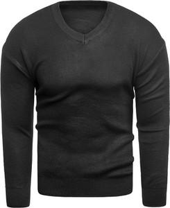 Czarny sweter Risardi w stylu casual