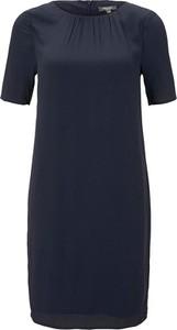 Granatowa sukienka Tom Tailor w stylu casual z okrągłym dekoltem
