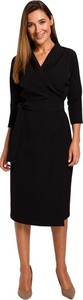 Sukienka Style kopertowa midi z długim rękawem