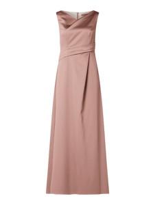 Sukienka Marie Noir z dekoltem w kształcie litery v z satyny bez rękawów