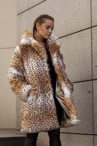 Brązowy płaszcz Smoke ze skóry ekologicznej