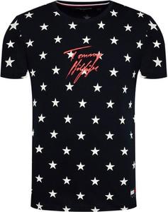 T-shirt Tommy Hilfiger z krótkim rękawem z bawełny z nadrukiem