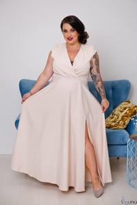 Sukienka tono.sklep.pl z dekoltem w kształcie litery v w stylu casual bez rękawów