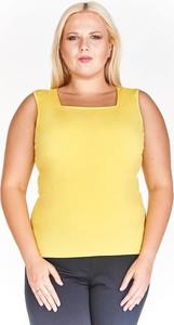 Żółta bluzka Fokus z dzianiny
