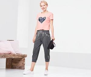 Spodnie sportowe Tchibo w młodzieżowym stylu z dresówki