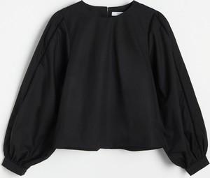 Bluzka Reserved z bawełny w stylu casual z okrągłym dekoltem