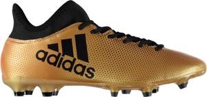 Brązowe buty sportowe Football sznurowane