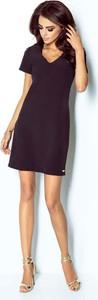 Bordowa sukienka Ivon mini z dekoltem w kształcie litery v