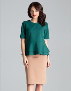 Zielona spódnica LENITIF midi