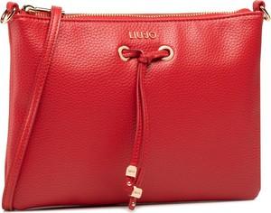 Czerwona torebka Liu-Jo na ramię średnia matowa
