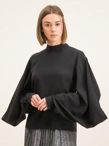 Czarna bluzka Hugo Boss z długim rękawem w stylu casual