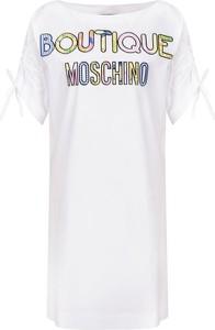 Sukienka Boutique Moschino z okrągłym dekoltem z krótkim rękawem