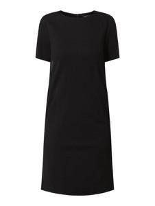 Czarna sukienka Marc Cain z dżerseju z krótkim rękawem prosta