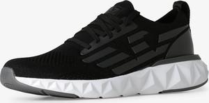 Buty sportowe Emporio Armani w sportowym stylu sznurowane z tkaniny