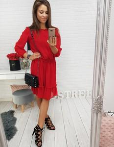 Czerwona sukienka Dstreet midi oversize