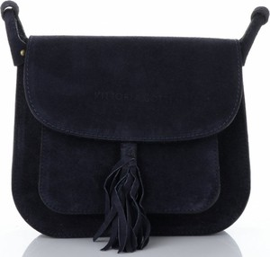 Granatowa torebka VITTORIA GOTTI w stylu casual ze skóry