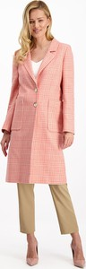 Różowy płaszcz Lavard w stylu casual
