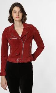 Czerwona kurtka Review ze skóry w street stylu krótka